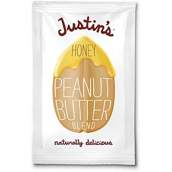 Justin's® Honey Peanut Butter, 1.15 oz. Squeeze Packs, 10/Box
