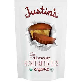 Justin's® Mini Milk Chocolate Peanut Butter Cups, 4.7 oz., 6/Case