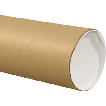 "W.B. Mason Co. Jumbo Mailing Tubes, 6"" x 48"", Kraft, 10/CS"