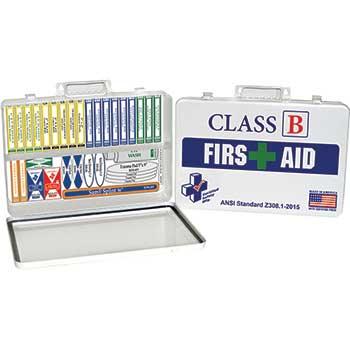 First Aid Kit, ANSI Standard Class B, Metal