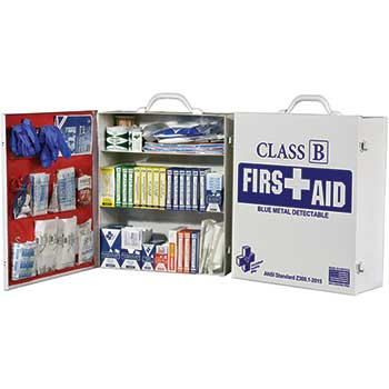 First Aid Cabinet, 3-Shelf, BMD FAC-3, ANSI Standard Class B, Metal