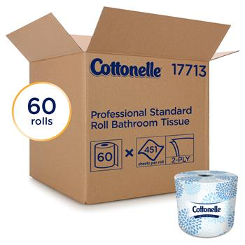 Cottonelle® Two-Ply Bathroom Tissue, 451 Sheets/Roll, 60 Rolls/Carton