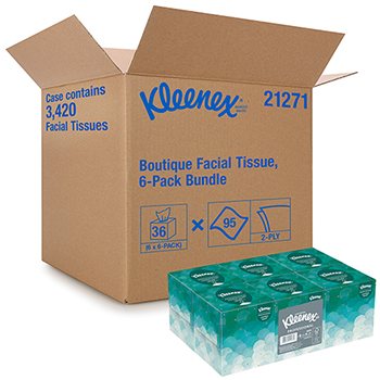 Professional Facial Tissue for Business (21271), Upright Cube Box, 95 Tissues/Box, 36 Boxes/CT