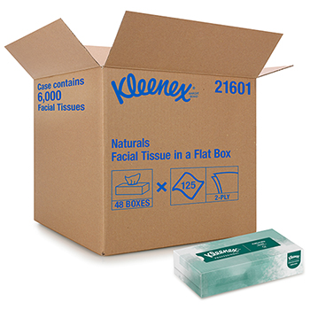 Professional Naturals Facial Tissue for Business (21601), Upright Cube Box, 2-Ply, 125 Tissues/Box, 48 Boxes/CT