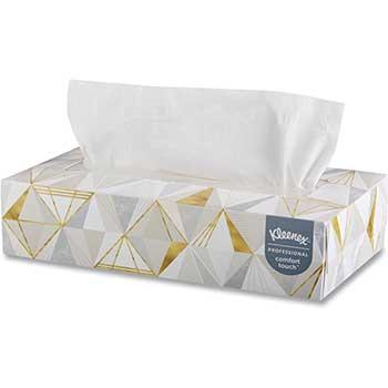 White Facial Tissue, 2-Ply, White, Pop-Up Box, 125/Box
