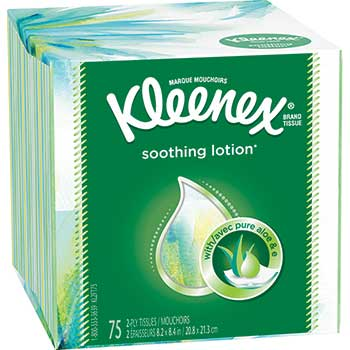 Lotion Facial Tissue, 2-Ply, 75 Sheets/Box