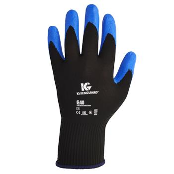 KleenGuard™ G40 Nitrile Coated Gloves, Medium/Size 8, Blue, 12 Pairs