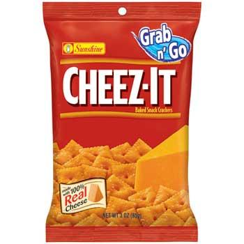 Cheez-It® Baked Snack Crackers, Original Grab n'Go, 3 oz. Bag, 60/CS