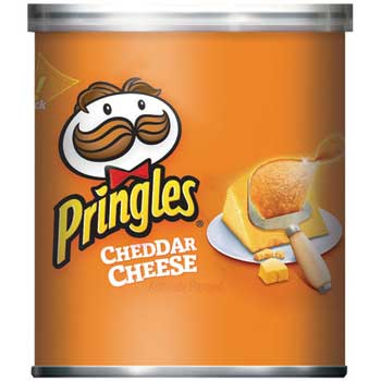 Pringles® Potato Chips, Cheddar Cheese, 1.41oz Can, 36/Case