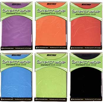 Stretchable Book Covers, Assorted Colors, 24/PK