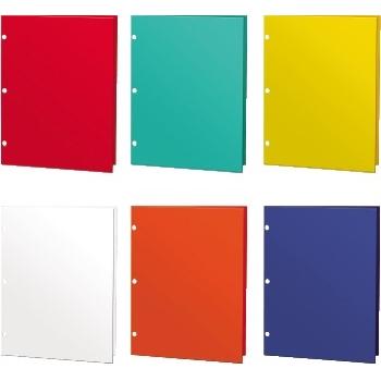 Kittrich® Glossy Pocket Folders, Assorted, 48/BX