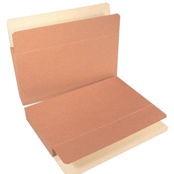 "Redrope Vertical File Pockets, Paper Gussets, Legal Size, 14-3/4""w x 9-1/2""h, 5-1/4"" Expansion, 10/BX"