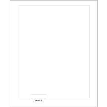 Legal Tabs Exhibit B Index Letter Bottom, 25/PK