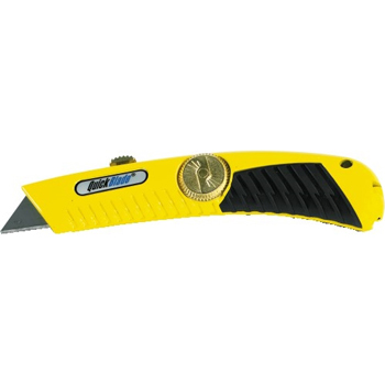 W.B. Mason Co. QuickBlade® Utility Knife , Retractable, Yellow/Black, 10/CS