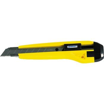 Steel Track® Snap Utility Knife, 8 Pt., Yellow/Black, 25/CS