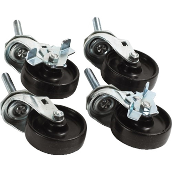 Casters for Vertical Roll Paper Cutter, Black