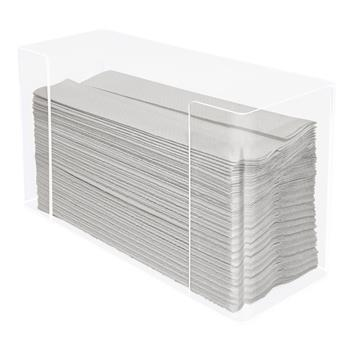 Kantek Multifold Paper Towel Dispenser, Acrylic, 12.5 x 4.4 x 7, Clear