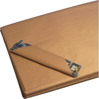 "W.B. Mason Co. Kraft Paper Sheets, 40#, 18"" x 18"", Kraft, 1600/CS"