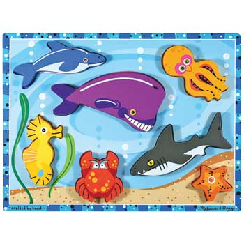 Melissa & Doug® Original Chunky Puzzle, Sea Creatures