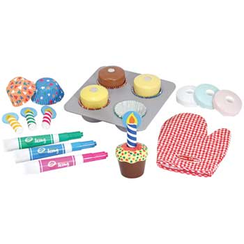 Melissa & Doug® Bake & Decorate Cupcake Set