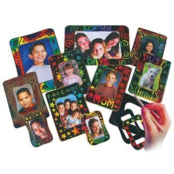Melissa & Doug® Scratch-Art Photo Frames Group Pack, 72/PK