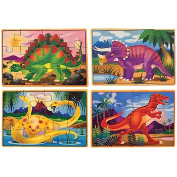 """Puzzles in a Box, Dinosaurs, 8"""" x 6"""""""