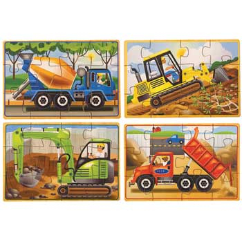 "Melissa & Doug® Puzzles in a Box, Construction, 8"" x 6"""