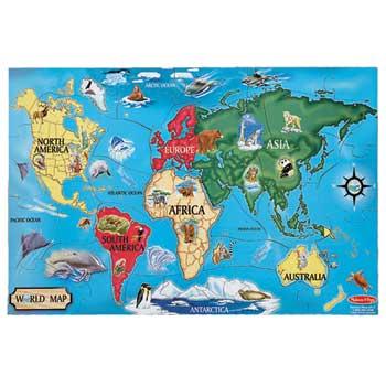 Melissa & Doug® World Map Floor Puzzle, 2' x 3'