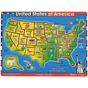 "Melissa & Doug® Sound Puzzle, USA, 11-1/2"" x 15-1/2"""
