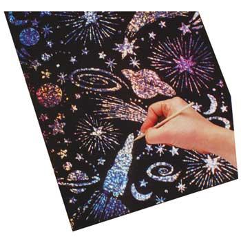 Melissa & Doug® Scratch & Sparkle Soft-Scratch Glitter Board, 8.5 x 11, 30/PK