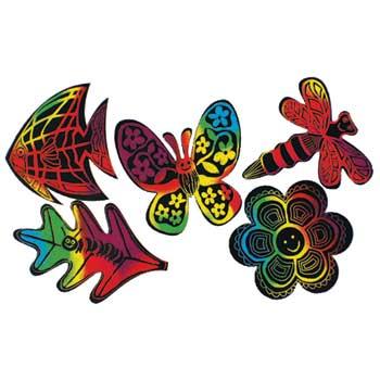 Melissa & Doug® Scratch-Life Nature Shapes Sheets, 4.25 x 4.25, 25/PK