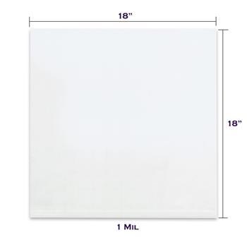 "LADDAWN Flat 1 Mil Poly Bags, 18"" x 18"", Clear, 1000/CS"