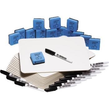 Charles Leonard, Inc. Jumbo Lapboard Class Pack, Dry Erase Boards, 9 X 12, 30/KT
