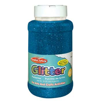 Charles Leonard, Inc. Glitter, Blue, 16 oz.
