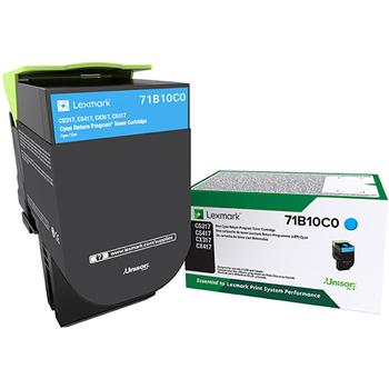 Lexmark™ LEX71B10C0 CS/X317/417/517 Cyan Return Program Toner Cartridge