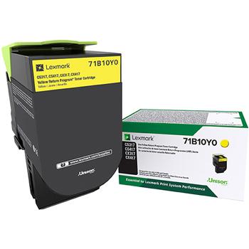 Lexmark™ LEX71B10Y0 CS/X317/417/517 Yellow Return Program Toner Cartridge