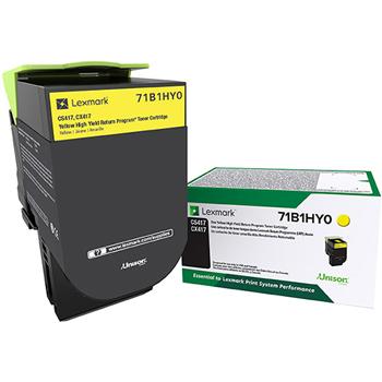 LEX71B1HY0 CS/X417/517 Yellow High Yield Return Program Toner Cartridge