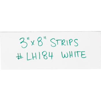 """W.B. Mason Co. Warehouse Labels, Magnetic Strips, 3"""" x 8"""", White, 25/CS"""