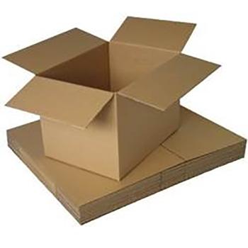 """W.B. Mason Co. Brown Corrugated Fixed Depth boxes, 13""""l x 13""""w x 4""""h, 25/BD"""