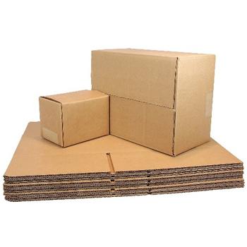 W.B. Mason Co. Brown Corrugated - Fixed Depth boxes, 18l x 12w x 12h, Brown, 25/Bundle