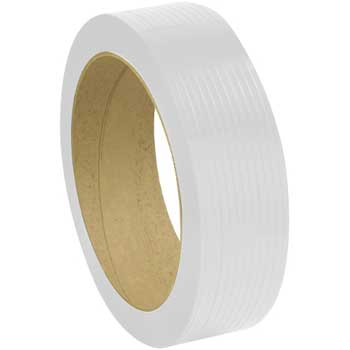 "W.B. Mason Co. Strapping Tape, Polypropylene, 24 Gauge, 1/2""x 9900', White"