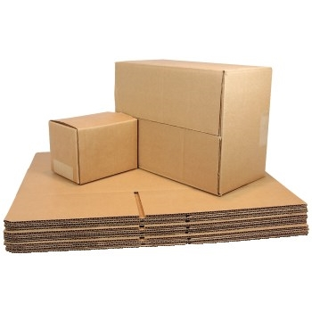 "Brown Corrugated Fixed Depth boxes, 11 1/4""l x 8 3/4""w x 8""h, Brown, 25/BD"