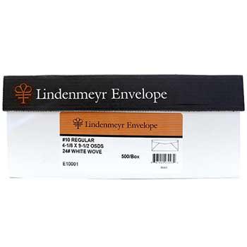 "Premium White Commercial Envelope, #10, 4 1/8"" x 9 1/2"", Window Simple Seal, 92 Bright, 24 lb, 500/BX"