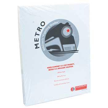 """Metro Pressure Sensitive Paper, Matte Litho Finish, 8 1/2"""" x 11"""", White, 60 lb, 100/PK"""