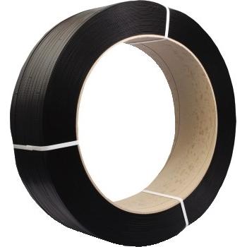 "W.B. Mason Co. Hand-Grade Polypropylene Strapping, 1/2"" x 9000"", Black"