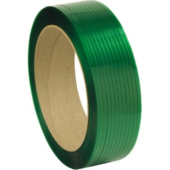 """W.B. Mason Co. Polyester Strapping, 35 Gauge, 5/8"""" x 4200', Green"""