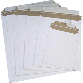"W.B. Mason Co. StayFlat Mailer, 9 3/4"" x 12 1/4"", White, 100/CT"