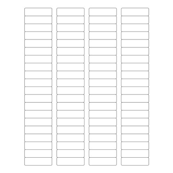 "Tape Logic® Weather-Resistant Laser Labels, 1 3/4"" x 1/2"", White, 8000/CS"