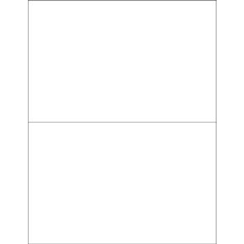 "Tape Logic® Rectangle Laser Labels, 8 1/2"" x 5 1/2"", Glossy White, 200/CS"