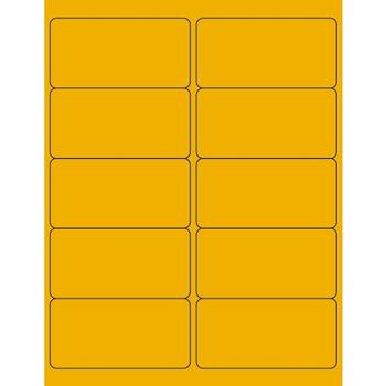 "Tape Logic® Rectangle Laser Labels, 4"" x 2"", Fluorescent Orange, 1000/CS"